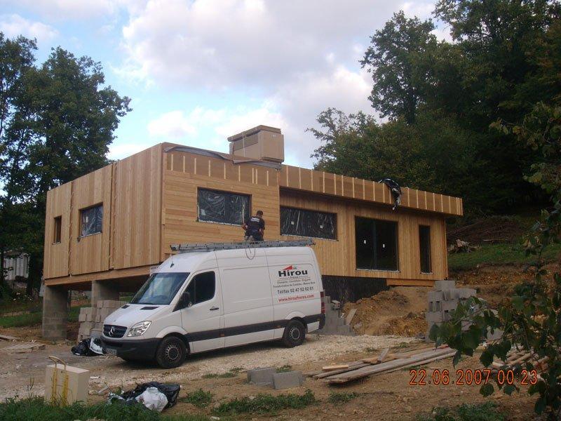 Maison ossature en bois charentilly 37 hirou fr res for Agrandissement maison 37